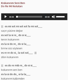 Kıskanırım Seni Ben - Do Re Mi #nota #doremi #melodika #org Do Re Mi, Note