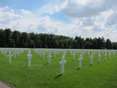 One small section of the Luxembourg American Cemetery and Memorial