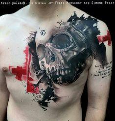 Trash polka skull
