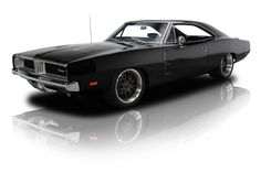 Black 1969 Dodge Charger R/T | RK Motors Charlotte | Collector and Classic Cars