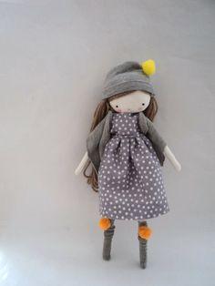 CUSTOM ORDER for Alicia Handmade rag doll by lassandaliasdeana