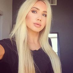 Super long beautiful hair color blonde
