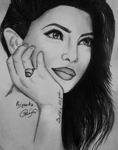 """""""Perfection Cud Well Be The Middle Name For Artist SEDA As She Infuses Life In This True To Life Pwncil Sketch Of PRIYANKA CHOPRA!!!"""""""
