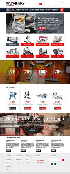 Machinery & Tools Store #Magento #template. #themes #business #responsive #webshop