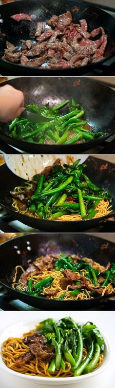 Chinese Broccoli Beef Noodle Stir Fry by Sugandha Alop