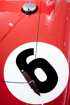 Number Six on the tail of what appears to be a vintage Ferrari - wonderful! Vintage Motorcycles, Cars And Motorcycles, Classic Motors, Classic Cars, Vintage Racing, Vintage Cars, My Dream Car, Dream Cars, Motogp