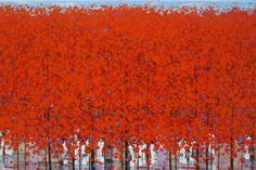 "14X21 CANVAS - Saatchi Art Artist xuan khanh nguyen; Painting, ""Late autumn 4"" #art"
