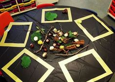 A simple but inviting idea! A simple but inviting idea! Forest School Activities, Autumn Activities, Art Activities, Outdoor Activities, Nursery Class Activities, Autumn Crafts Preschool, Gruffalo Activities, Activity Ideas, Learning
