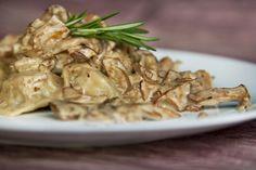 Raviolis au canard confit sauce forestière au romarin | .recettes.qc.ca