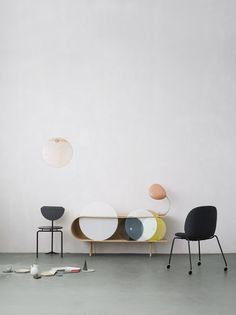 GUBI // Beetle chair and Cobra Table Lamphttp://decdesignecasa.blogspot.it