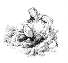 """alastarbuttons: """" A Knight of the Seven Kingdoms illustrations by Gary Gianni pg. 41 """""""