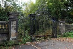 Grounds of Worsley New Hall in Salford, UK