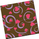 Fancy Hearts - Fuchsia & Lavender - 8 Sheets- Chocolate Transfer Sheets