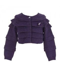 Tartine et Chocolat Girls Cardigan - Purple