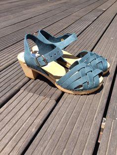 Petrol coloured sandals!