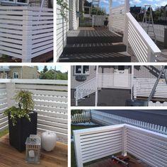 Bygga med liggande ribbor – Altanräcke, spaljé eller vindskydd