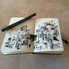 Sketch Book Looks like guanajuato. I need to sketch this summer =) Practice Practice Practice Architect Sketchbook, Art Sketchbook, You Draw, How To Draw Hands, Drawing Sketches, Art Drawings, Zantangle Art, Sketches Arquitectura, Illustration Arte