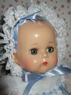 "VINTAGE COMPOSITION AND CLOTH 16"" ARRANBEE LITTLE ANGEL R&B BABY DOLL VGC"