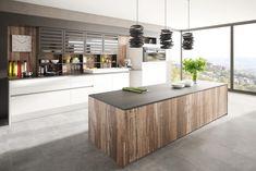 Dizajnové kuchyne - dotkuchyne.sk Küchen Design, House Design, Breakfast Nook, Diy Room Decor, Home Decor, Kitchen Island, Chrome, Cabinet, Storage