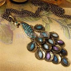 Cheap jewelry necklace, Buy Quality jewelry necklace display directly from China jewelry necklace holder Suppliers: Vintage Women Necklaces Bohemian Colorful Crystal Peacock Pendant Necklaces Women Charm Fashion Jewelry Blue Green
