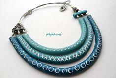 Necklace by polymeramoi, polymer clay.