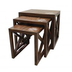 Small Side Table Mindi Wood Products Hot Sale 40 X 40 X 35 Cm