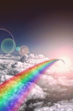 Somewhere over the rainbow over the white clouds so high Over The Rainbow, Love Rainbow, Rainbow Colors, Rainbow Nails, Rainbow Art, Rainbow Things, Rainbow Logo, Rainbow Magic, Rainbow Makeup