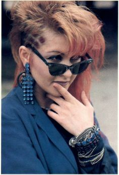Cyndi Lauper is the first one. All because she  has been fighting over the years for her right to express herself.