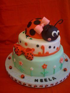 So cute! Little Neela's first birthday cake:)