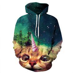 2017 Hot Sale Women Hoodies Rainbow Unicorn Hoodie Printed Animal Horse 3d Crewneck Casual Cotton Sweatshirt