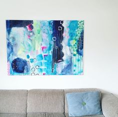 Modern abstract painting by Mette Lindberg. www.mettesmaleri.dk
