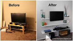 DIY: TV Shelves
