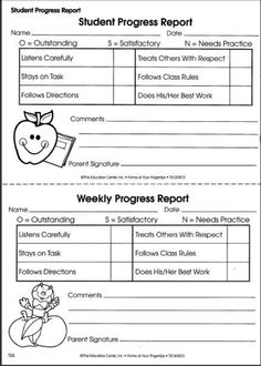 Awesome Student Progress Reports   Keep Parents Informed Of Their Childu0027s Progress  Quickly And Easily With These Printable Progress Reports.