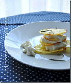 Millefoglie di patate e rosmarino con spuma di gorgonzola