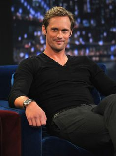 """This is who I think should play Christian Grey: Alexander Skarsgard Visits """"Late Night With Jimmy Fallon"""""""