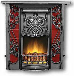 Art Nouveau fireplace/theartnouveaublogspot.com