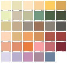 polisan renk kartelası ve renk seçenekleri