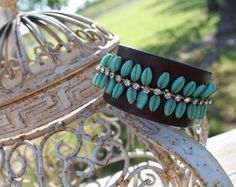 ReCycled+Leather+into+Boho+Wrist+Cuff+by+trinketstotreasures,+$57.00