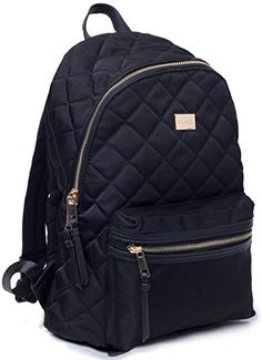 Woman Backpack TOYOOSKY Black Casual School Backpack Purse Daypack Rucksack  Classic Quilted Bookbag for Women Girls 6136ddc2130c2