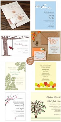 Wedding Invitations Featuring Trees & Branches