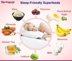 Choose These Sleep- Friendly Superfoods for Great Sleep.  #Sleep