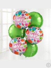 Send your Happy Birthday wishes with this fabulous Happy Birthday Balloon Bouquet. Created with three Bright Green and three 'Happy Birthday' helium balloons, this balloon bouquet is guaranteed to bring a smile to someone's face! Happy Birthday Flower, Happy Birthday Balloons, Happy Birthday Images, Happy Birthday Wishes, 60th Birthday, Birthday Cards, Birthday Blast, Birthday Bouquet, Birthday Ideas