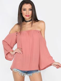 Flowy+Off+The+Shoulder+Top+MAUVE+9.99
