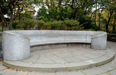 There's also a great spot for sharing secrets inside the Shakepeare Garden. Bring a buddy and climb to the top of the garden, where you'll find this unique-looking stone bench. Sit on one end and have your friend sit on the other, then, put your mouth near the bench and whisper a message. Your companion will hear it clear as a bell as the sound travels through the bench. Just make sure no one is sitting in between you, creating interference.