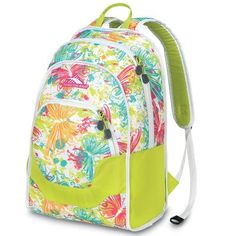 High Sierra Widget Backpack Butterflies ChartreuseWhite Print 185x13x8Inch -- This is an Amazon Affiliate link. To view further for this item, visit the image link.
