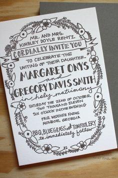 wedding invitations by Printerette Press