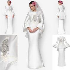Baju Pengantin Terkini 2016 2017 Rizalman Bridalwear Camellias Puff Dress