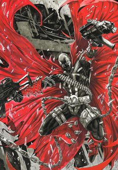 Spawn with the choppaz Spawn Marvel, Spawn Comics, Arte Dc Comics, Dc Comics Superheroes, Marvel Art, Comic Movies, Comic Book Characters, Comic Book Heroes, Marvel Characters