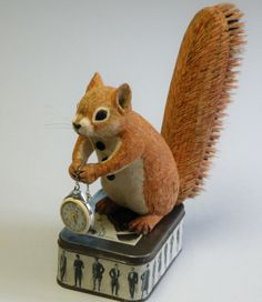 Gentleman Squirrel. He has a brush for a tail. SOLD