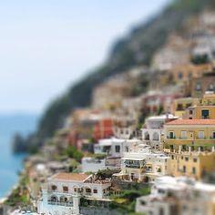 Tilt Shift Fake Miniature Photograph of Seaside Village